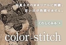 写真刺繍 カラースティッチ Color-stitch