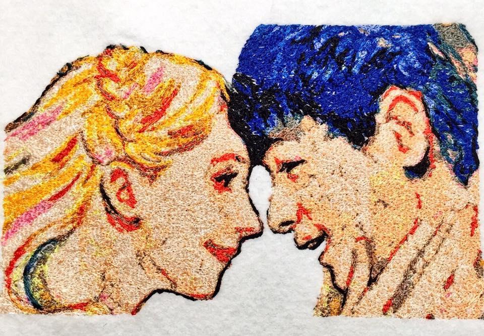 フォト刺繍エリーとマッサン