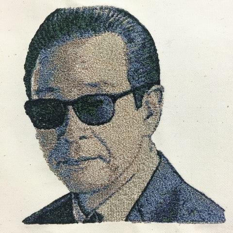 フォト刺繍タモリさん