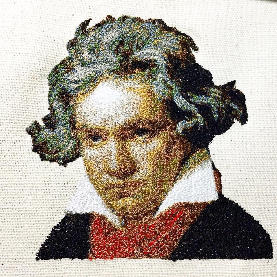 フォト刺繍ベートーベン