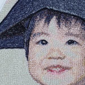 フォト刺繍 プレゼント 写真 刺しゅう 想い出 記念 サンプル