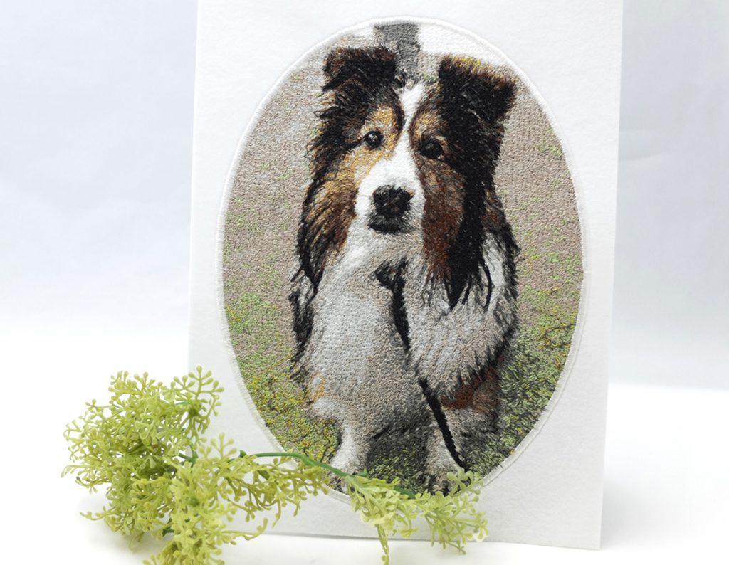 フォト刺繍 プレゼント 写真 刺しゅう 想い出 記念 ペット 犬