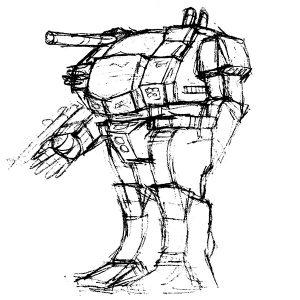 戦機士Ⅰラフデザイン