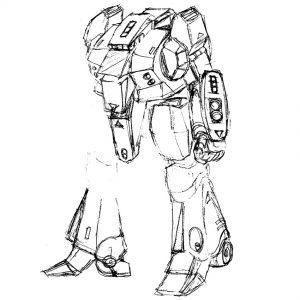 戦機士X-Ⅲラフデザイン