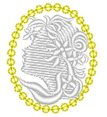 カメオ刺繍データ
