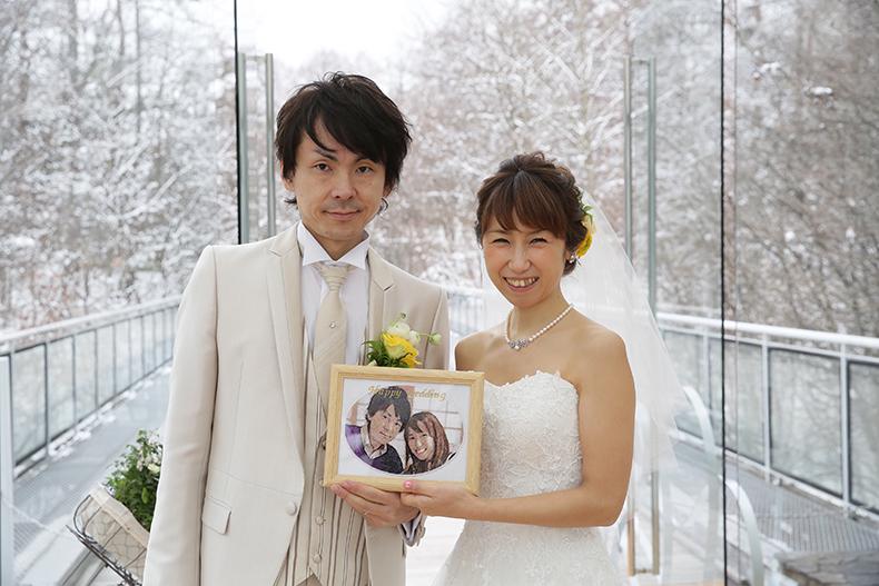 結婚式のフォト刺繍