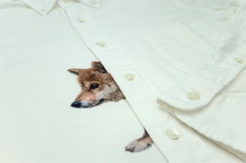 シャツにフォト刺繍
