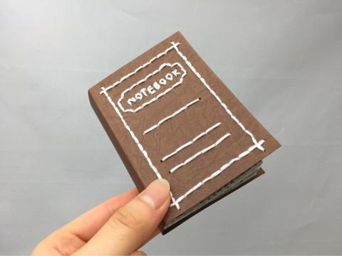ミニnotebook刺繍