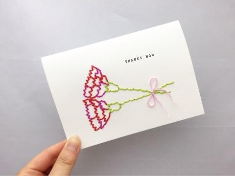 紙刺繍 母の日