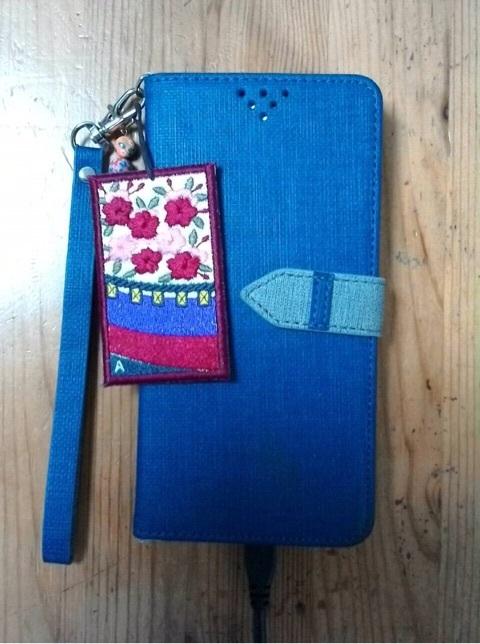刺繍花札のストラップ