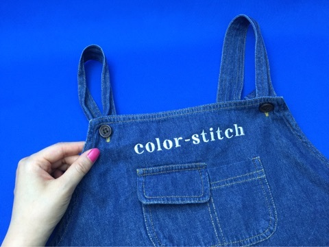 color-stitch刺繍エプロン