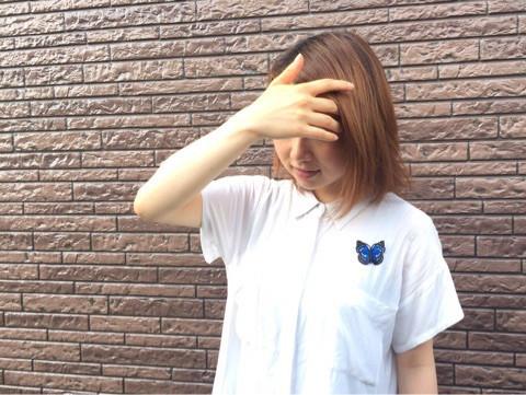 オオムラサキの刺繍ブローチ