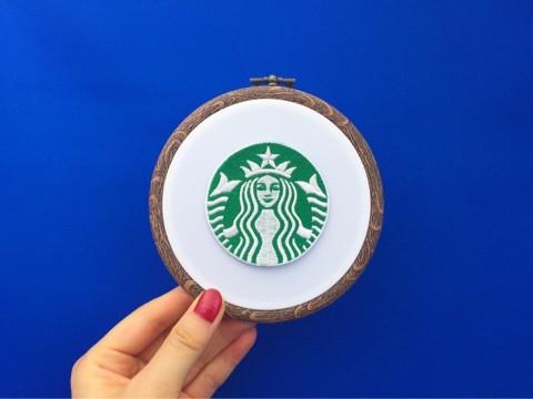 STARBUCKS COFFEEロゴ刺繍