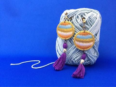 エスニック刺繍イヤリング