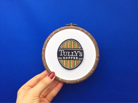 TULLY'S COFFEEロゴ刺繍