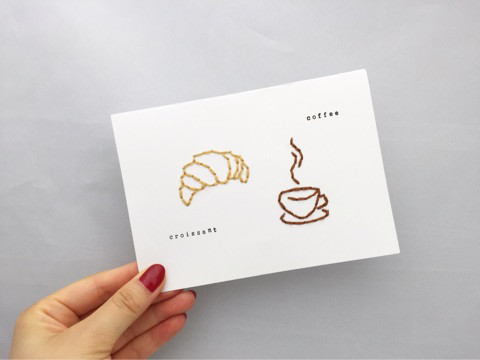 クロワッサンとコーヒー