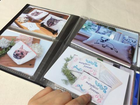 刺繍作品のフォトアルバム