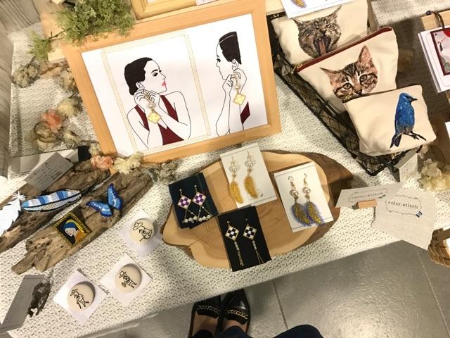 イベント出展 刺繍雑貨