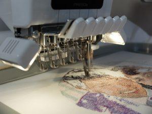 フォト刺繍制作風景