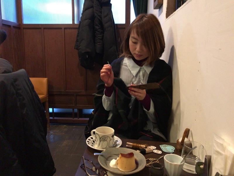 紙刺繍 石田珈琲店 札幌