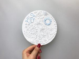紙刺繍 花模様