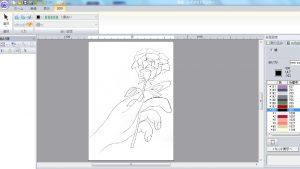 刺繍データ 薔薇