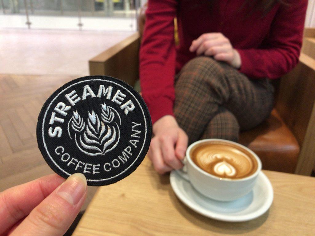 カフェロゴ刺繍 ストリーマーコーヒーカンパニー