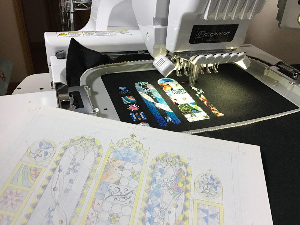 ステンドグラス刺繍 刺繍ミシン