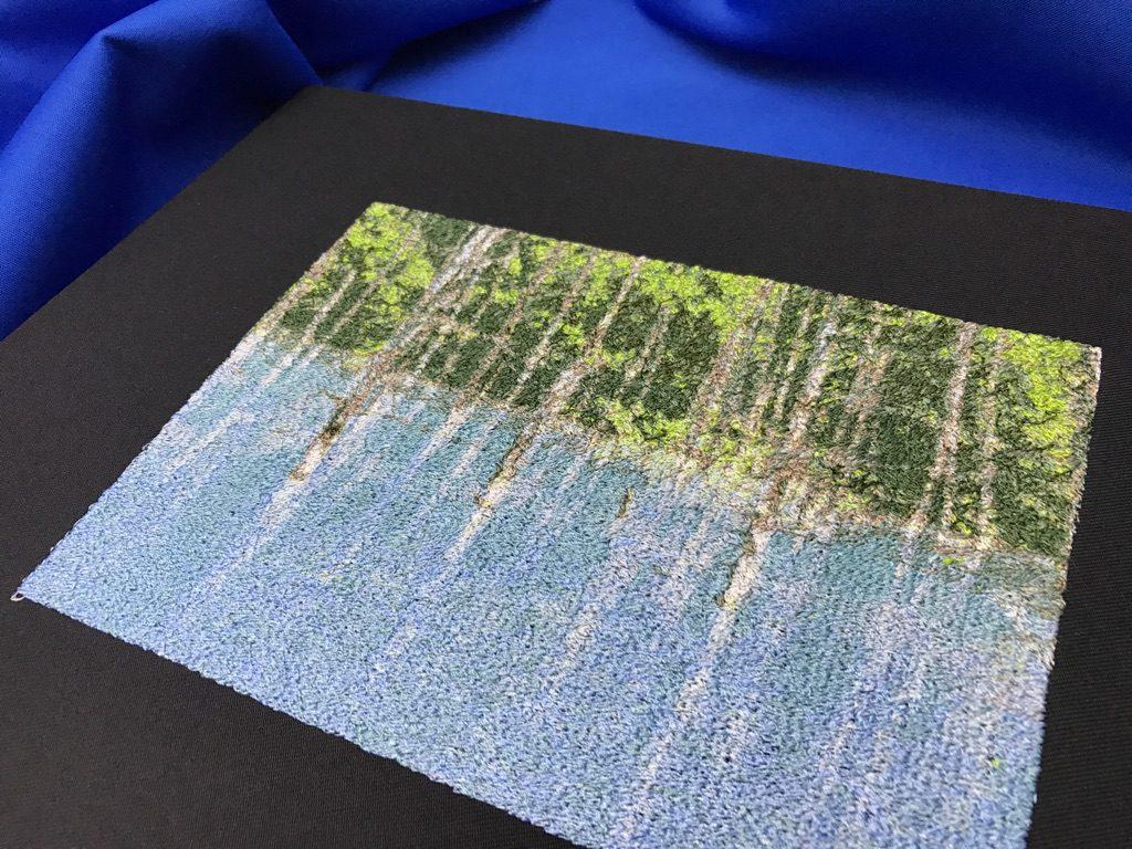 青い池 北海道 美瑛 フォト刺繍