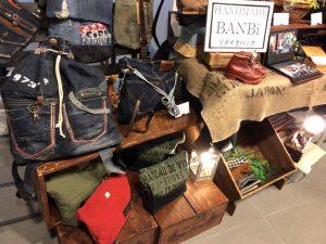 handmade banbi リメイクバッグ