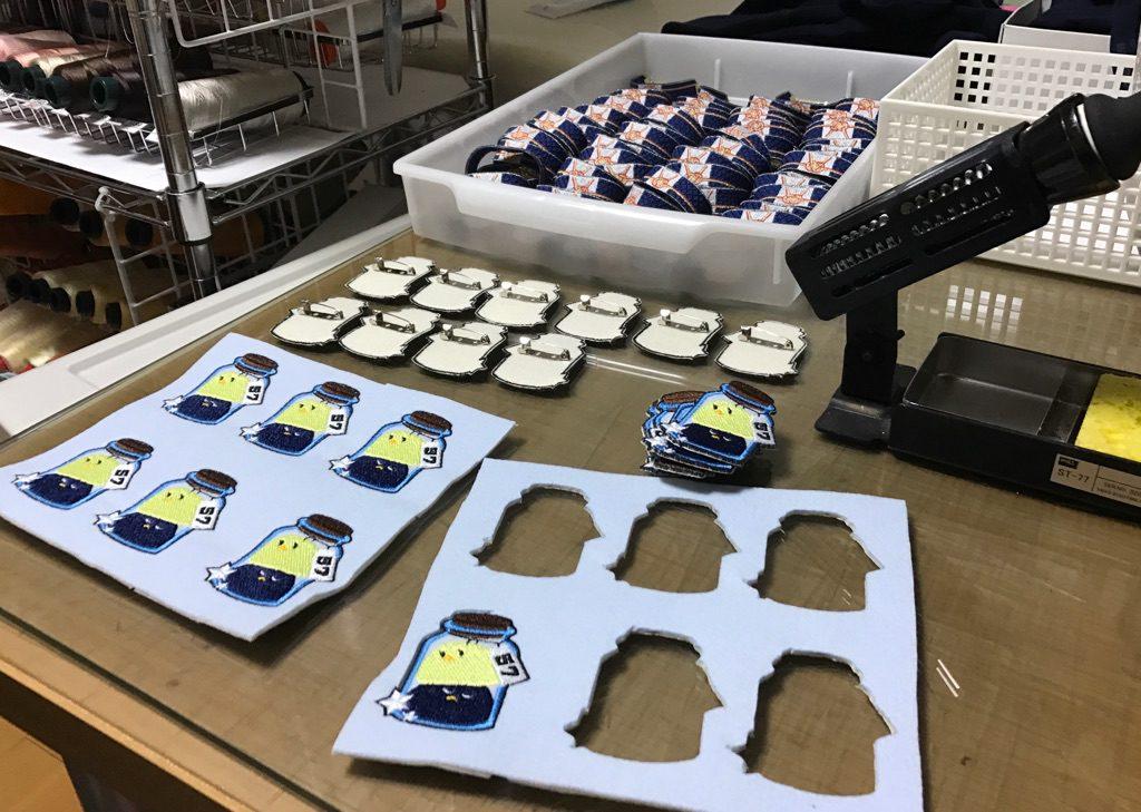 Now Start HONBAN SUPERCOMICCITY 東京ビッグサイト 刺繍ブローチ 刺繍ブレスレット 制作過程