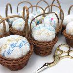 ピンクッション 針山 刺繍 gardenpicnic 紙刺繍 ワークショップ