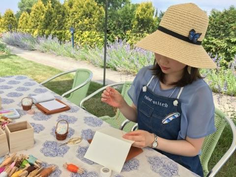 GARDEN PICNIC 十勝ヒルズ 帯広 ガーデンペーパー刺繍 紙刺繍 ワークショップ