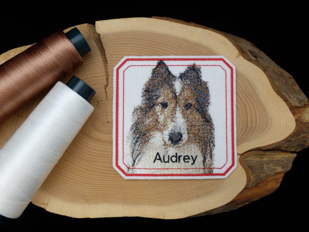 フォト刺繍 犬 ペット ワッペン プレゼント 還暦祝い