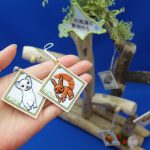 北海道 珍しい動物 刺繍ストラップ エゾモモンガ オコジョ エゾリス エゾフクロウ ナキウサギ