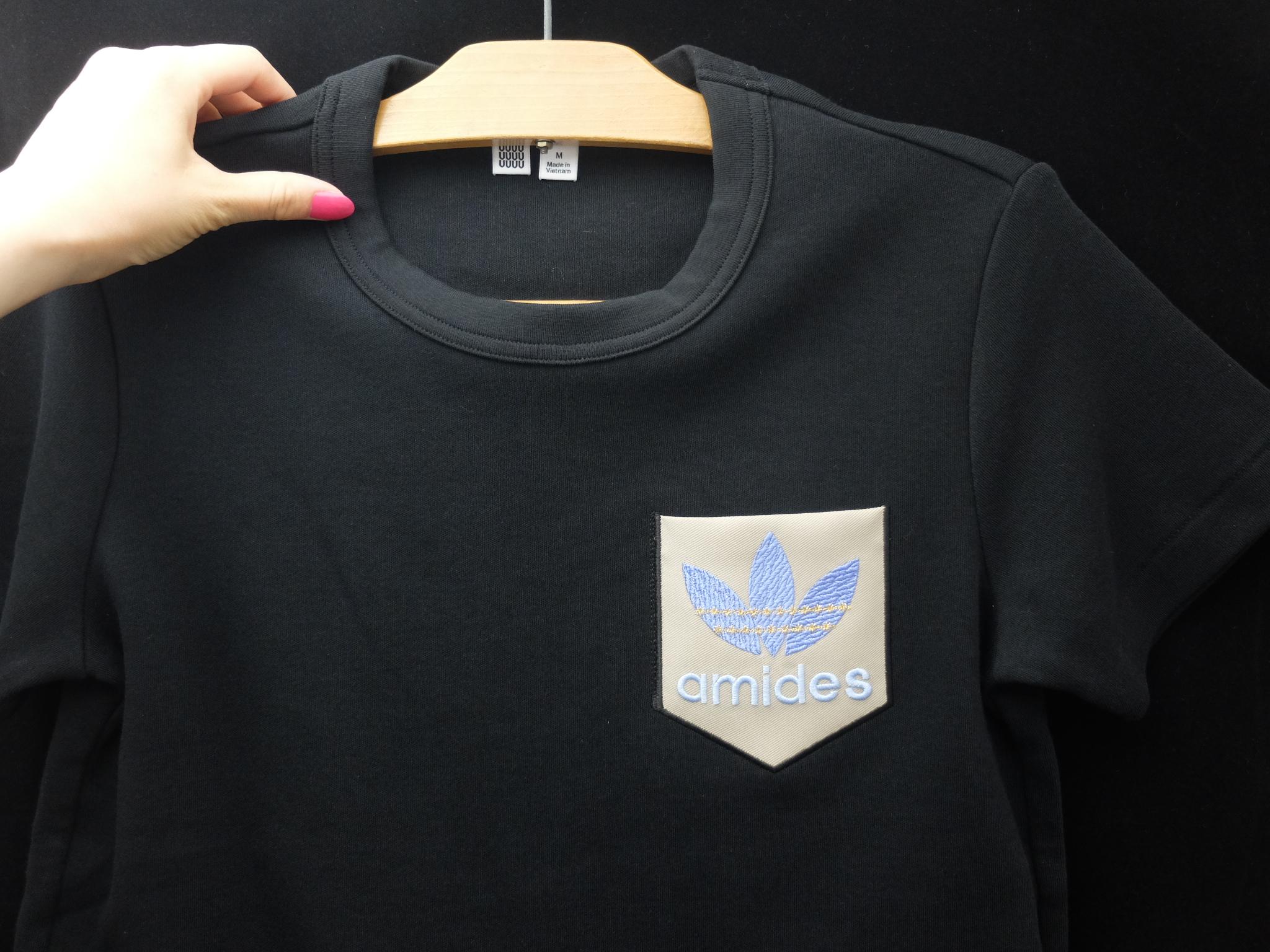 adidas パロディ ポケット ユニクロ Tシャツ