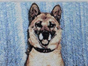 フォト刺繍 犬 ペット プレゼント 写真