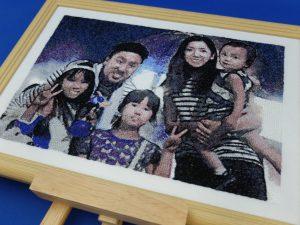 フォト刺繍 家族写真 世界に一つだけのプレゼント
