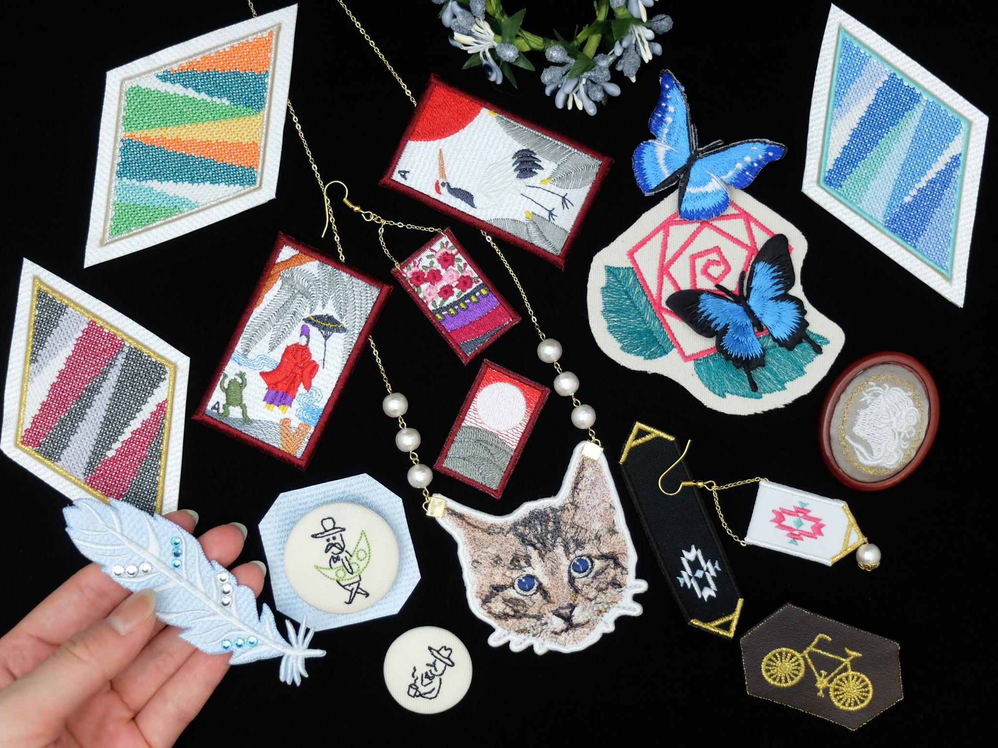 NEVER MIND THE BOOKS テレビ塔 札幌 イベント出展 刺繍雑貨 color-stitch