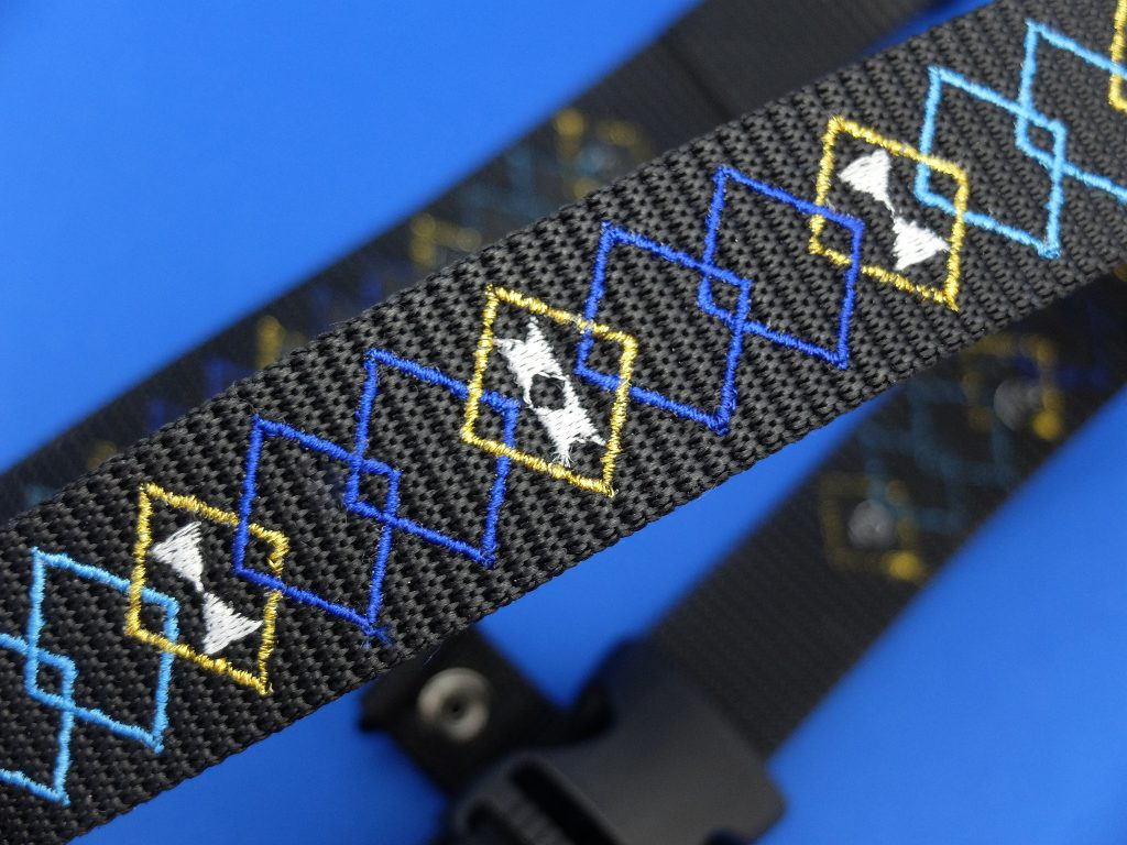 作業用安全帯 作業用ベルト ベルト刺繍 オルテガ柄 幾何学模様