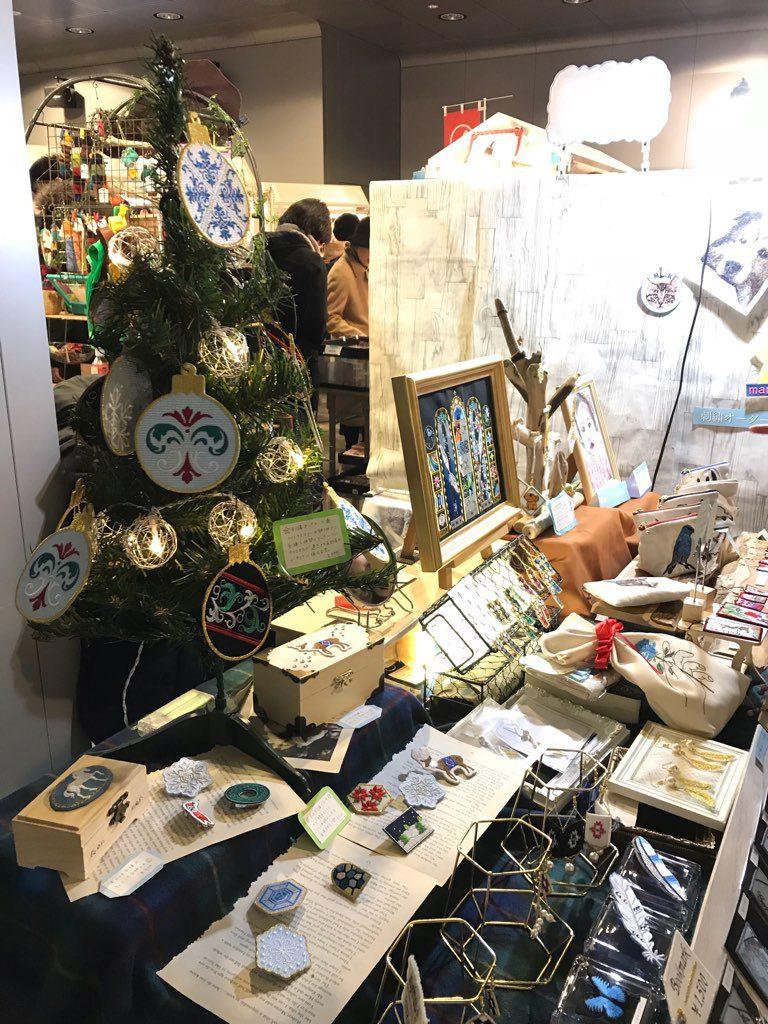クリスマスマーケット カナリヤ イベント出展 刺繍屋