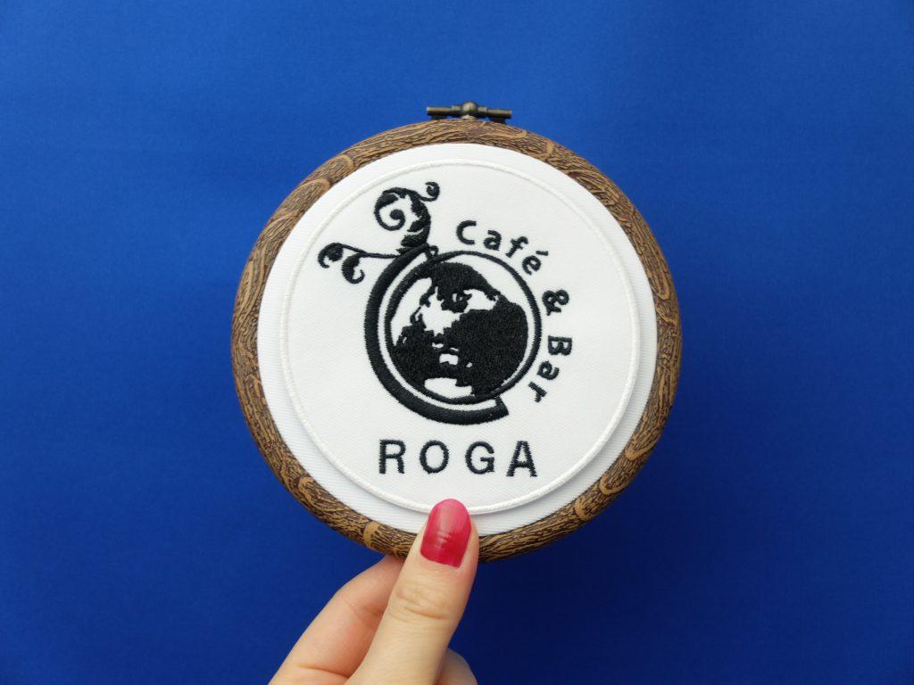 カフェ ロゴ 札幌カフェ 札幌駅 roga ロゴ刺繍 刺繍ミシン