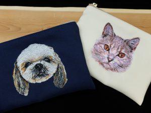 フォト刺繍 刺繍ポーチ ペット 犬猫 お見舞い プレゼント