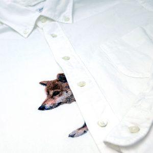 フォト刺繍,プレゼント,思い出,ペット,シャツ
