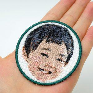 フォト刺繍ワッペン