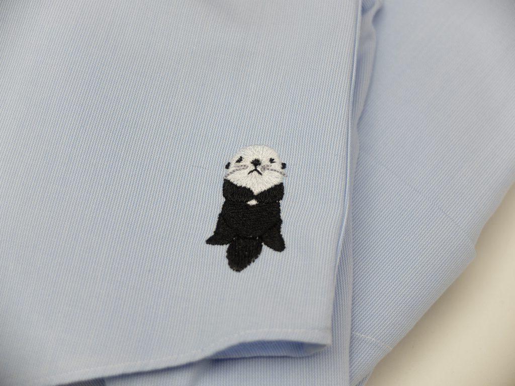 バレンタインプレゼント シャツ刺繍 ラッコ