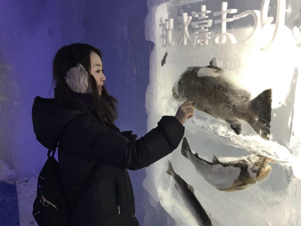 支笏湖 氷濤まつり 氷の水族館