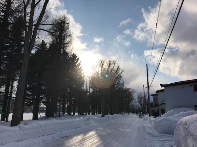 北高 雪道