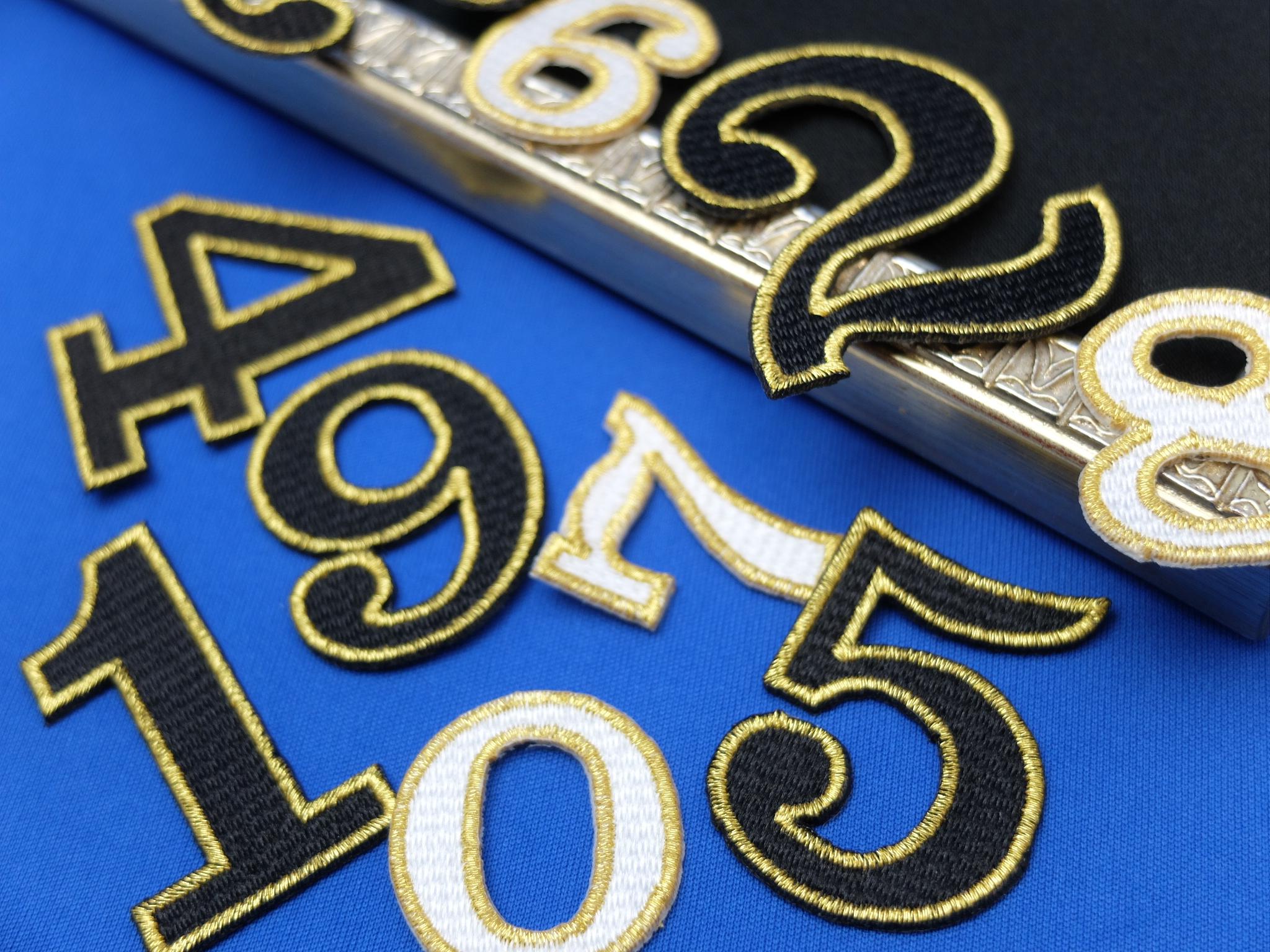 刺繍 ワッペン 数字