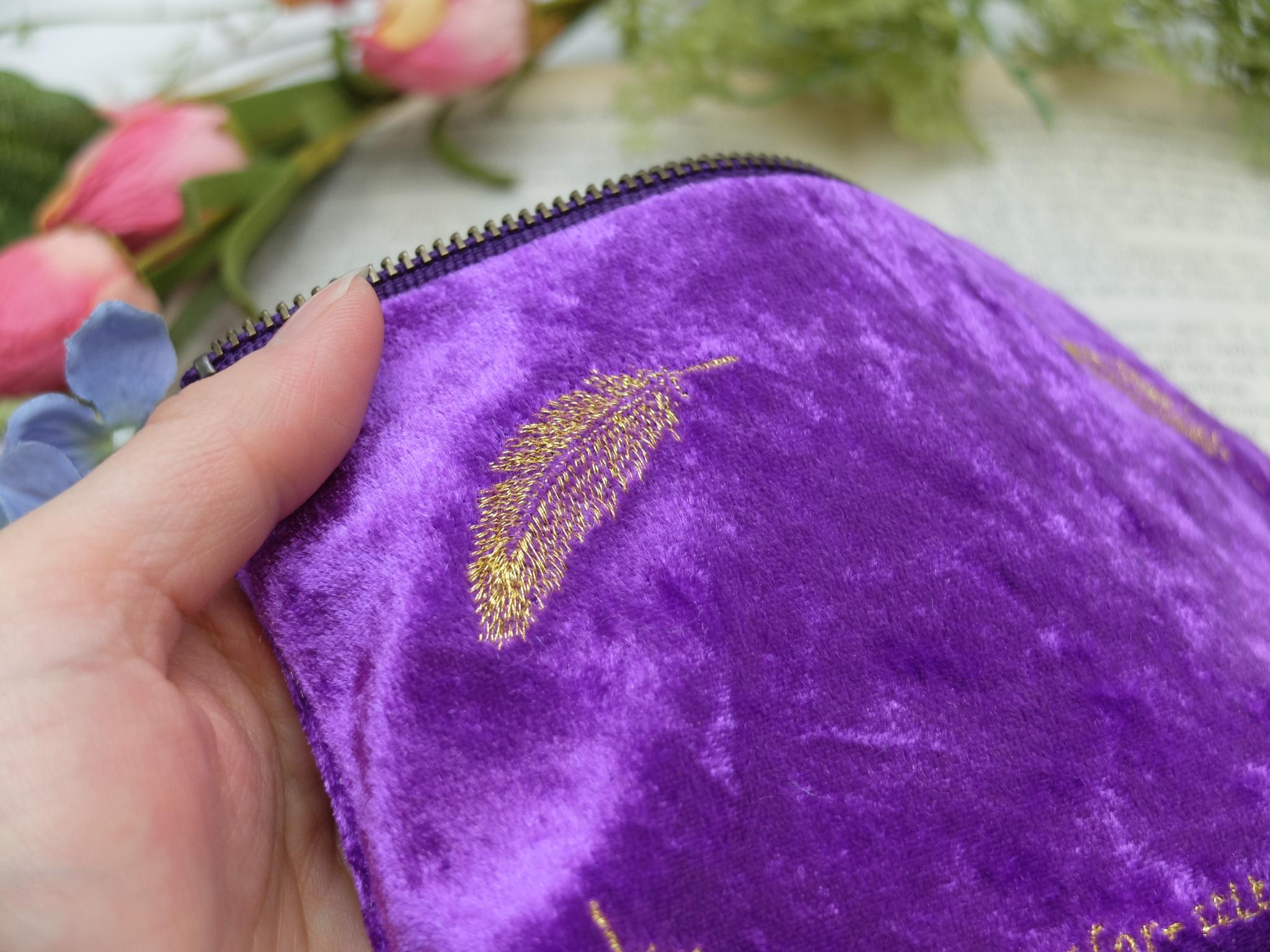 オーダー刺繍 刺繍ポーチ ベロア生地